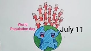 World Population Day poster 2020/How to draw World Population day drawing step by step