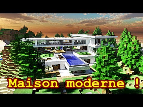 minecraft maison moderne 2 youtube. Black Bedroom Furniture Sets. Home Design Ideas