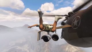 SKYDIVE THROUGH HELICOPTER - GTA 5