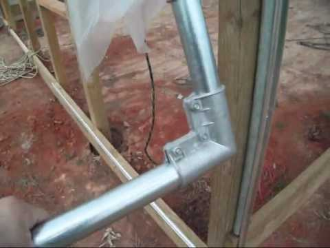 Small Roll Up Doors Greenhouse Construction How To Make Roll Up Side  Curtains Youtube