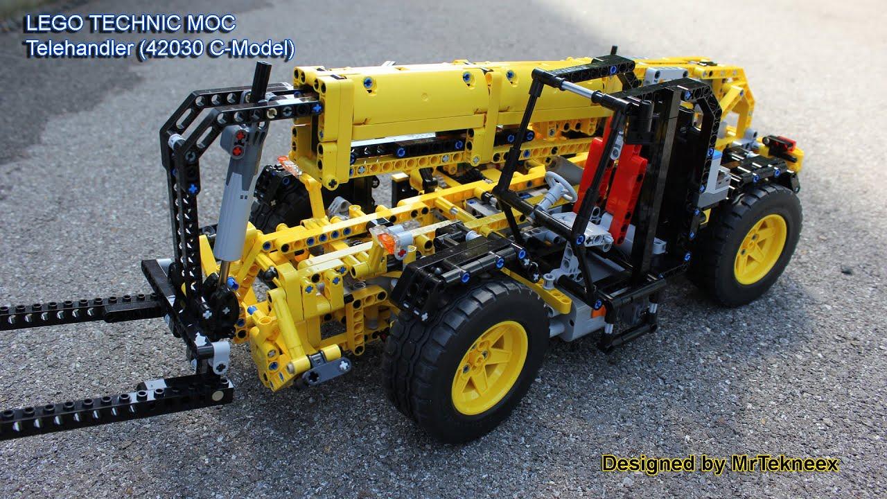 lego technic telehandler 42030 c model youtube