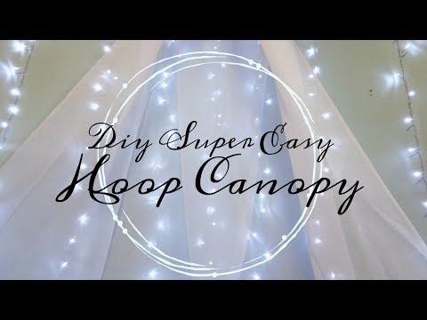 DIY  Bedroom Canopy  ( No Sew & Super Easy)