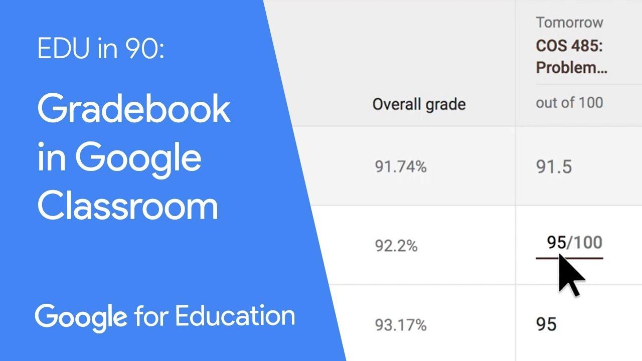 EDU in 90: Gradebook in Google Classroom