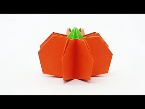 Origami Halloween How To Fold An Origami Pumpkin Step By Step