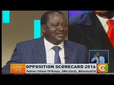 Raila Odinga interview with Hussein Mohamed Citizen TV