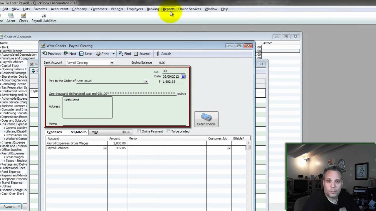 How to enter payroll into quickbooks detail youtube baditri Images