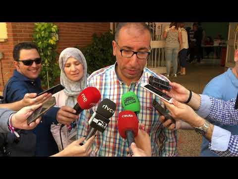 Mohamed Ali vota y pide alta participación para una Ceuta progresista
