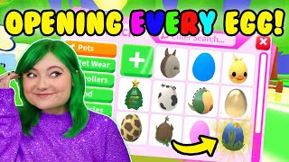 OPENING ONE OF *EVERY SINGLE EGG* in ADOPT ME ROBLOX! HATCHING LEGENDARY PETS! *EXPENSIVE UNBOXING*