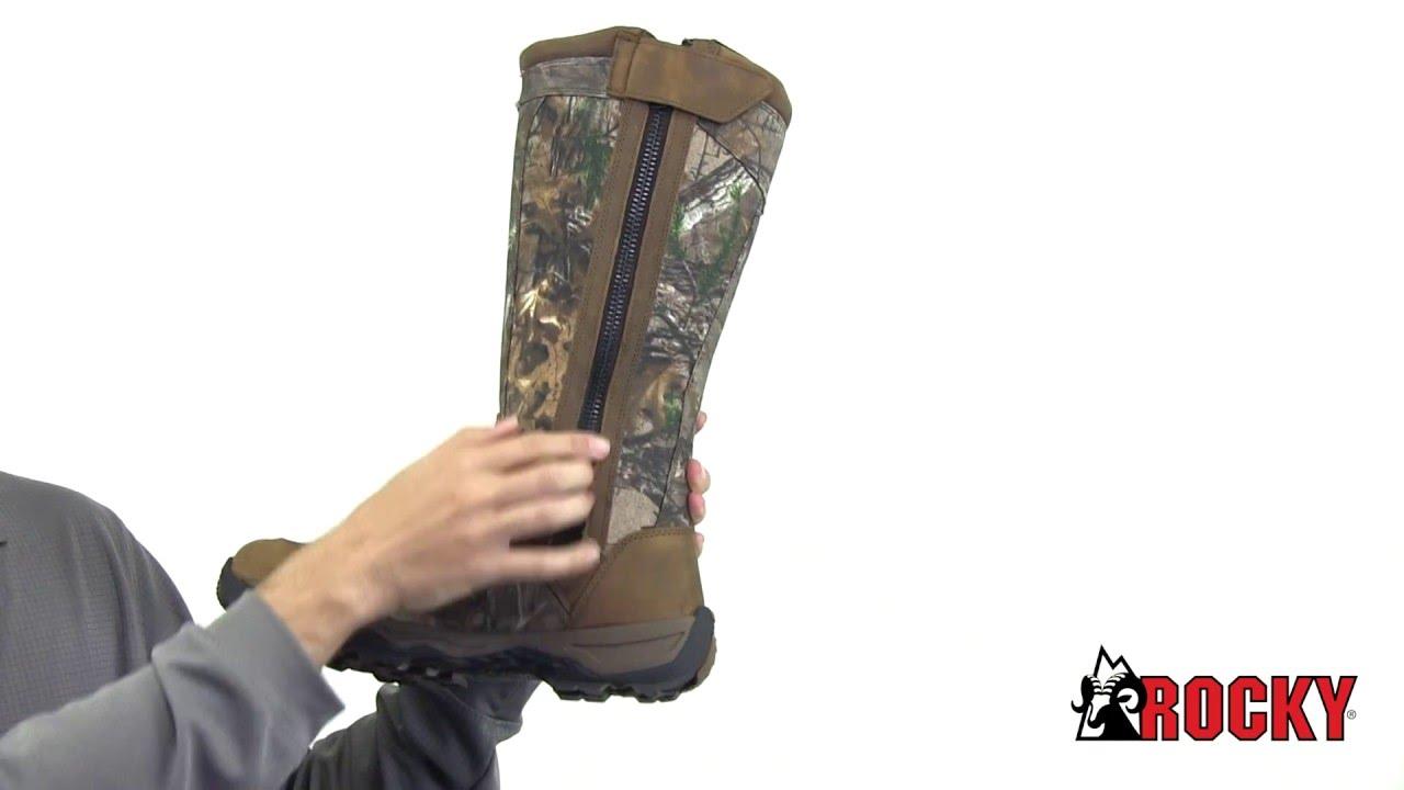 Rocky Retraction Waterproof Side Zip Snake Boot Style