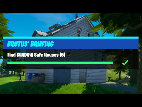 Find SHADOW Safe Houses (5) All Locations Guide - Fortnite Brutus' Briefing Challenges