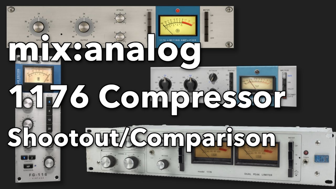 1176 compressor hardware and plugins: shootout/comparison