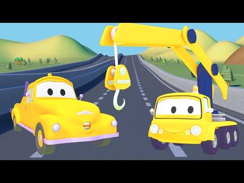 Эвакуатор Том - Кран - Автомобильный Город  🚗 детский мультфильм 🚗