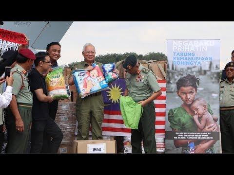 PM Najib sent off humanitarian aids to Rohingya  Refugges