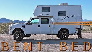 TRUCK CAMPER LOADING FAIL - Ford F250 Super Duty Bed BENDS with Slide In Camper