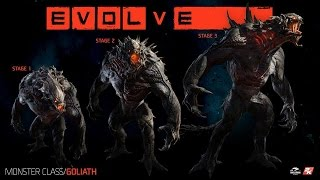 Evolve Big Alpha Monster Gameplay (Win as Goliath)