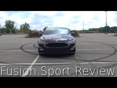 2017 Ford Fusion Sport Review and Road Test in 4K - Does it