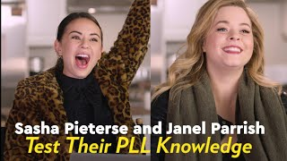 Sasha Pieterse and Janel Parrish Test Their Memories With a PLL Trivia Quiz