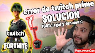 ACTIVAR TWITCH PRIME (ERROR DE TWITCH PRIME) (SKIN FORTNITE DE TWITCH PRIME) | LEGAL 100% FUNCIONAL