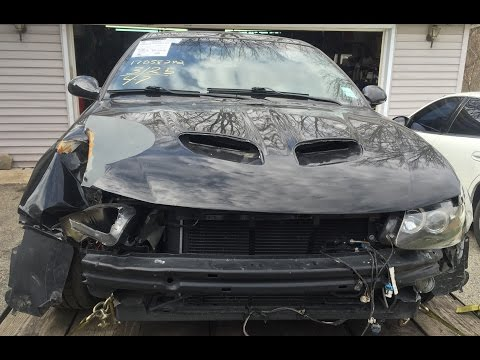 2006 Pontiac GTO LS2 6.0 manual 6 speed time lapse front end repair after a wreck