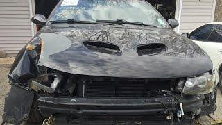 2006 Понтіак GTO / Холден Монара LS2 6.0 механічна 6-ступінчаста проміжок часу переднього плану відновлення після аварії.