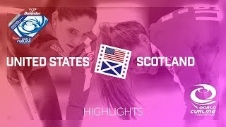 HIGHLIGHTS: United States v Scotland - Women round-robin - World Junior Curling Championships 2018