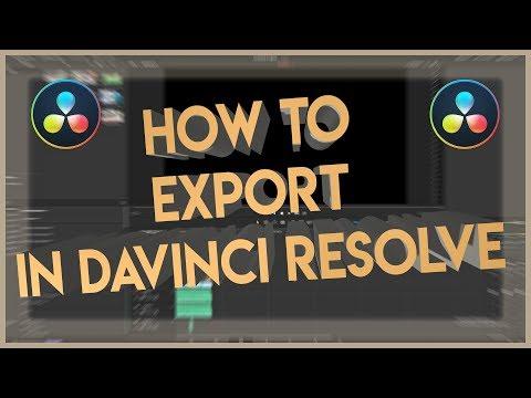 How to Export in Davinci Resolve 16 (2019)