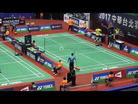 20170628TAIPEI OPEN MS Chun-Wei CHEN陳俊維(華)vs LIN Yu Hsien林祐賢(華)