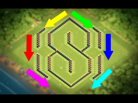 Town Hall 9 (Th9) SUPER COOL 3D 'S' Base - Picture Base Actually Works!!   Clash of Clans