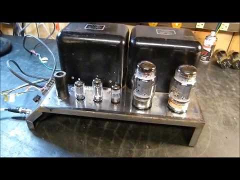 McIntosh MC75 Mono Block Vacuum Tube Amplifier Testing and  Documentation
