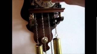Warmink 8 Day Burl Wood Dutch Sallander Wall Clock For Sale On Ebay Uk