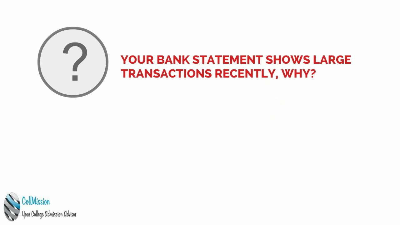 your bank statements are verified financial visa interview your bank statements are verified financial visa interview questions