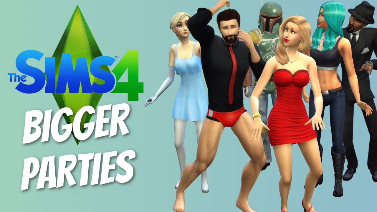 BIGGER PARTIES MOD - The Sims 4 Funny Highlights #17