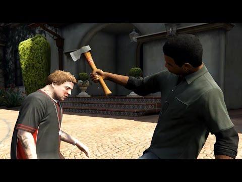 GTA 5 Lamar Kills Michael's Son Jimmy |