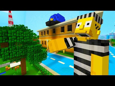 Homer Simpson Gets Arrested  | The Simpsons | Minecraft Xbox [32]