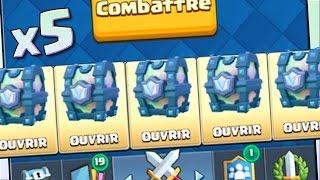 Clash Royale PACK OPENING de 5 COFFRES LÉGENDAIRES !!