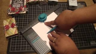 Erstellen Streichholzschachteln mit dem we R Memory Keepers-Envelope Punch Board