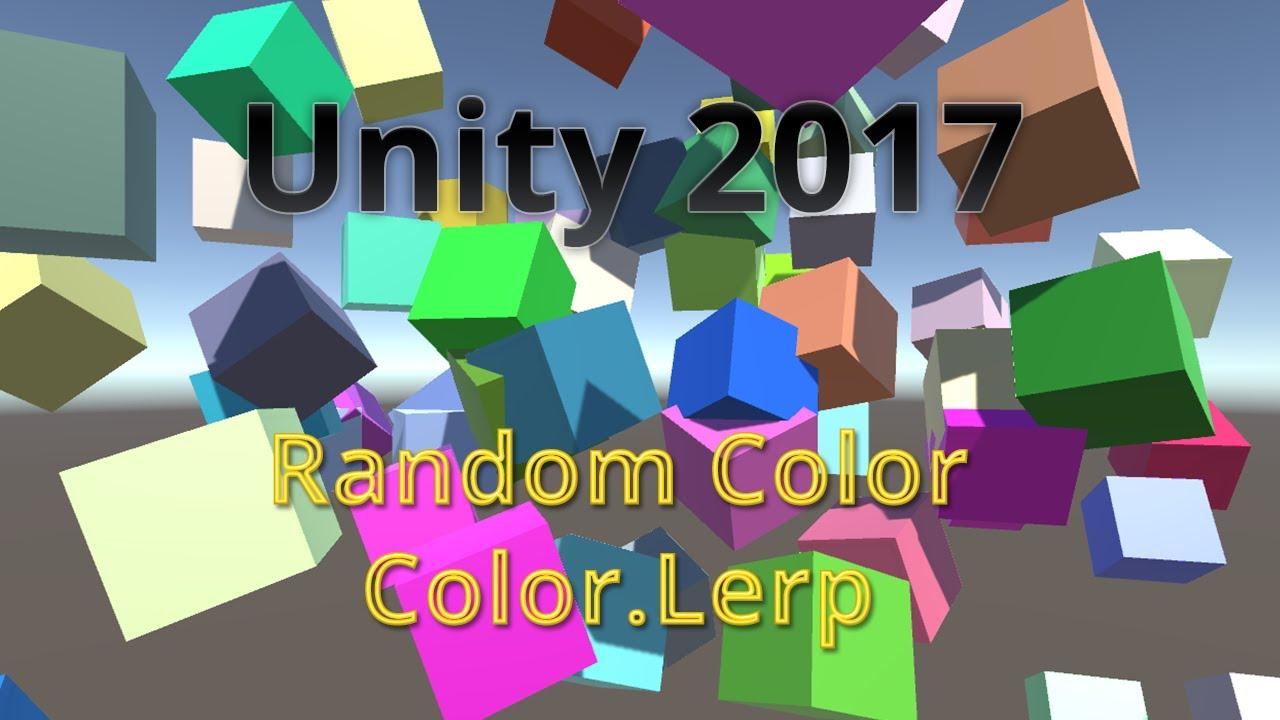 TUTORIAL Unity 2017 - Cores aleatórias em um material