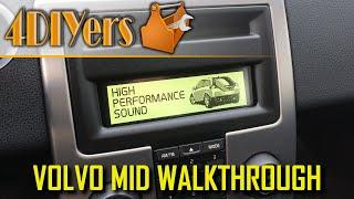 Volvo C30 S40 V50 C70 MID WalkThrough Radio Climate Control Vehicle Information