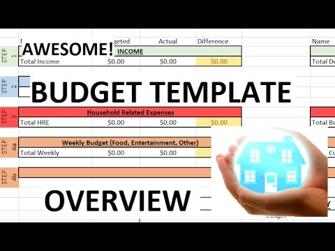 Budget Template Overview - First Look Into Your New Household Budget