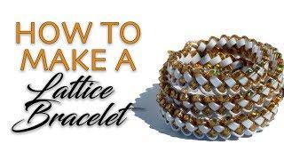 Diy: Lattice Berry Bracelet Tutorial