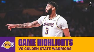 HIGHLIGHTS | Anthony Davis vs. Golden State Warriors  (10/16/19) | Lakers