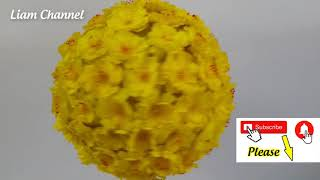 How to make a lucky flower ball | Liam Channel