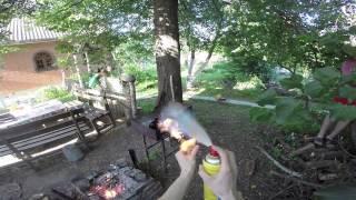 Guy is on fire!