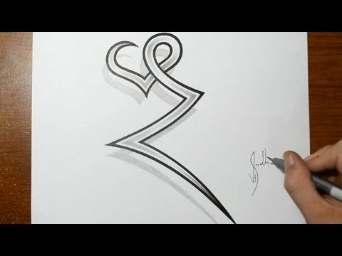designing letters combined with hearts tattoo design ideas for initials youtube. Black Bedroom Furniture Sets. Home Design Ideas