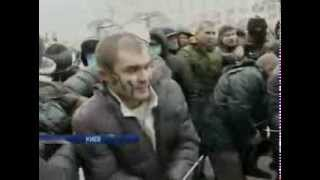 Pro-EU Neo-Nazi  caught people and  lynching them,Kiev, 22.01.2014