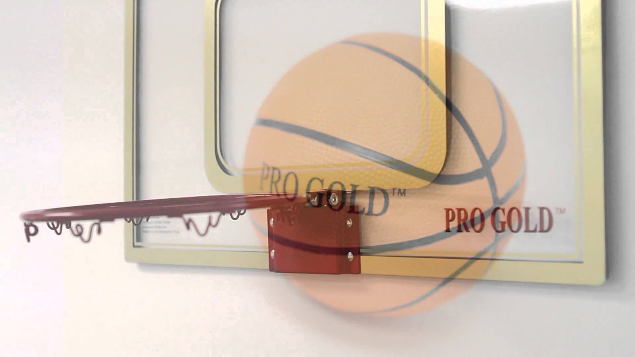 d11c2cc8a05 POOF-Slinky Pro Gold™ Large Basketball Hoop - YouTube