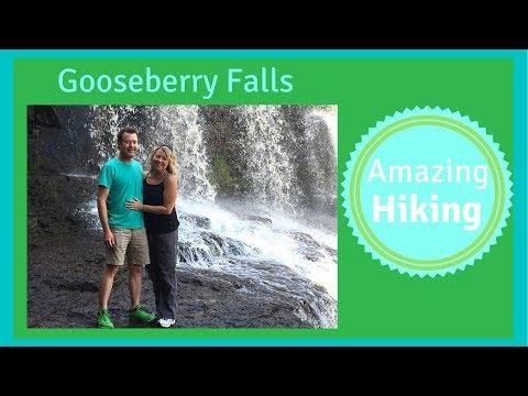Hiking Northshore Minnesota - Gooseberry Falls - Lake Superior Drone Video - RV Living