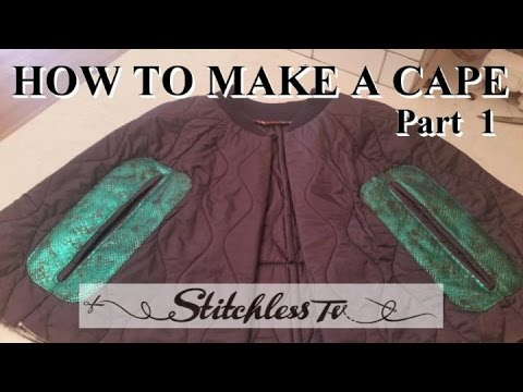 How to make a cape PART 1