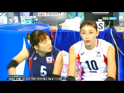 2014 Asian Games Women's Volleyball - Korea vs India