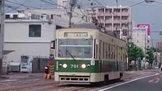 広島電鉄700形701号 宇品二丁目〜宇品三丁目 5号線 広島港行き